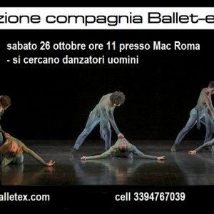 La Compagnia Ballet-ex Di Luisa Signorelli Cerca Danzatori Uomini Per Nuova Produzione!